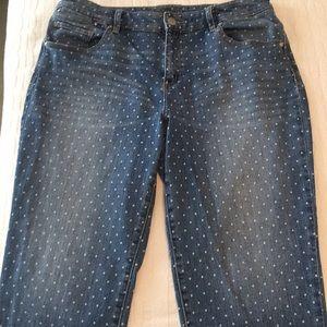 Polka-dot blue jeans Chico Platinum 2 Skimmer